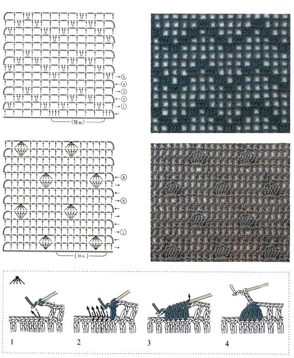 плетение сеток и вышивание
