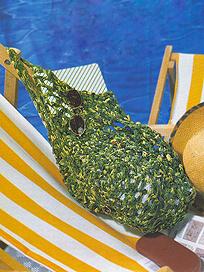 меланжевая сумочка из ленточной пряжи