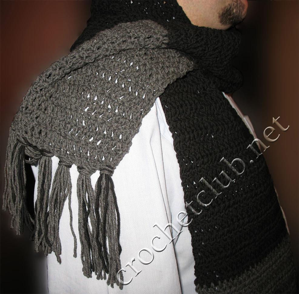 вязаный шарф вязание крючком блог настика