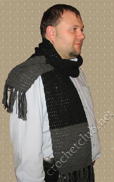 ...вязание крючком вязание крючком схемы вязание ... шарф мужской.