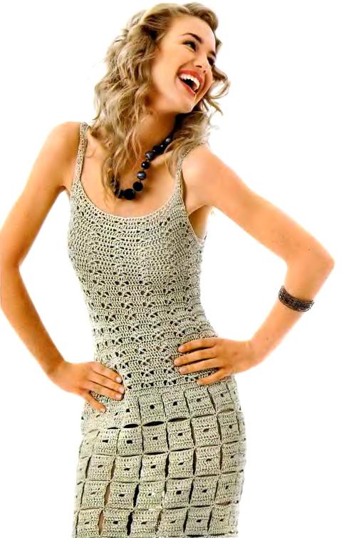 Ажурное вязание крючком схема мини платья.  Вечерние платья салон элит.