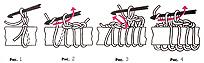 схема вязания длинных петель