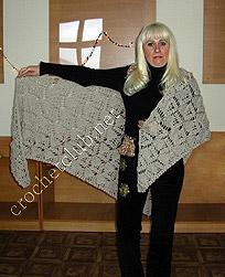 Схемы вязания шали - Вязание крючком, мотивы, схемы для.