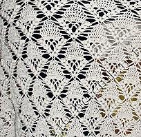 узор ажурной шали