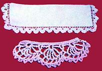 Вязание крючком схема вязания воротника.