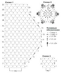 схемы узоров сумки и топа с цветком