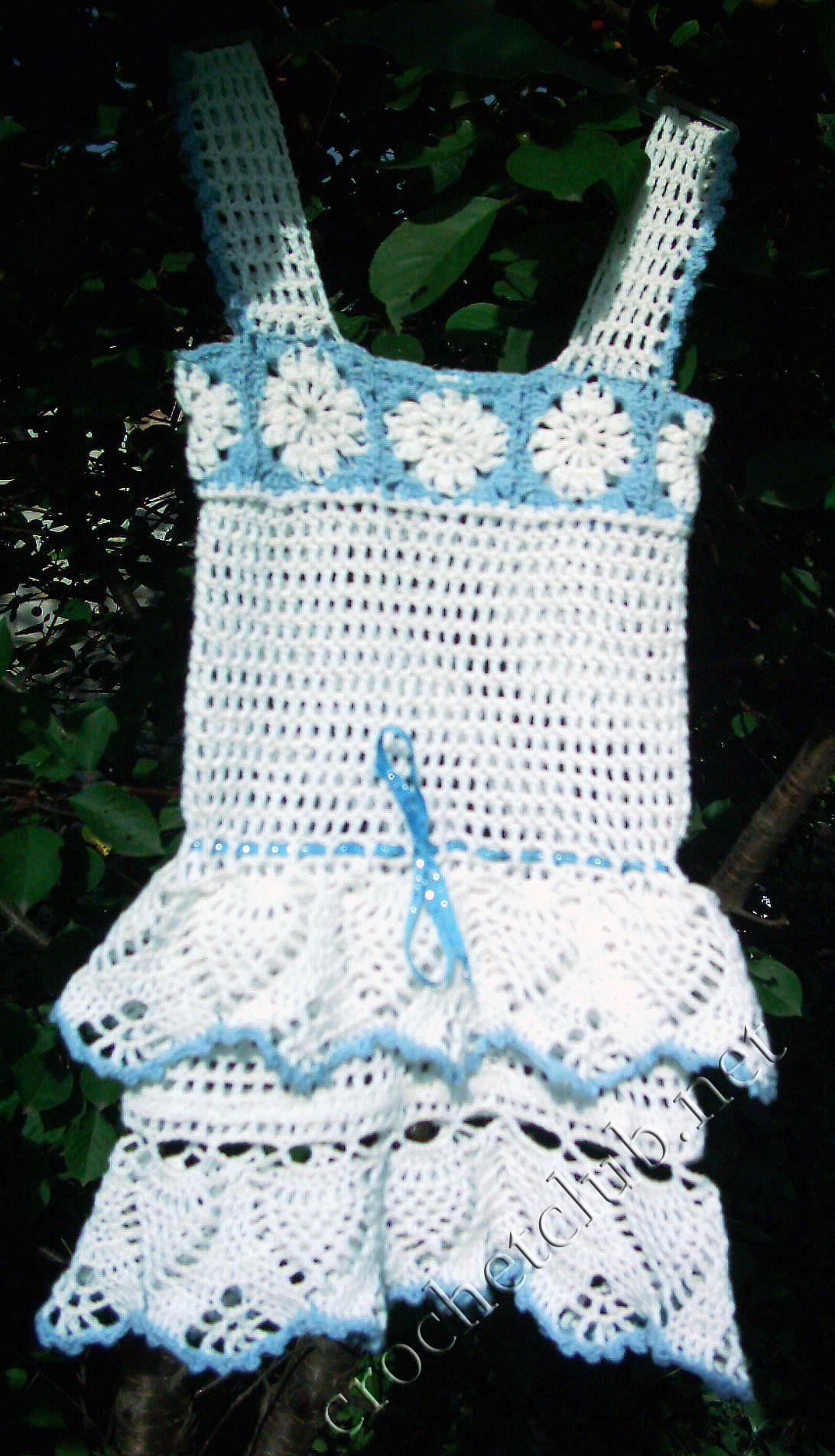 вязаный сарафан для девочки вязание крючком блог настика