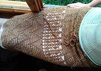золотистая юбка