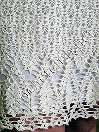 фрагмент белого сарафана