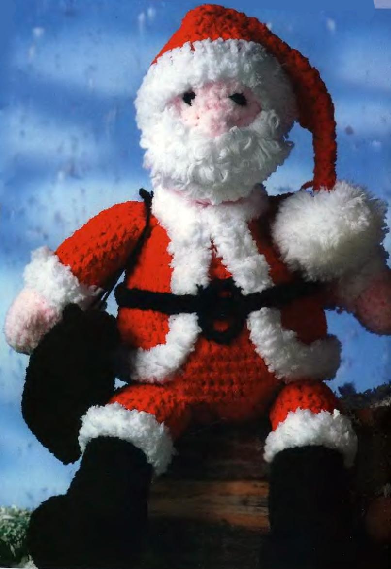 Вязаный Дед Мороз - Вязание Крючком. Блог Настика