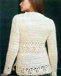 пуловер цвета слоновой кости