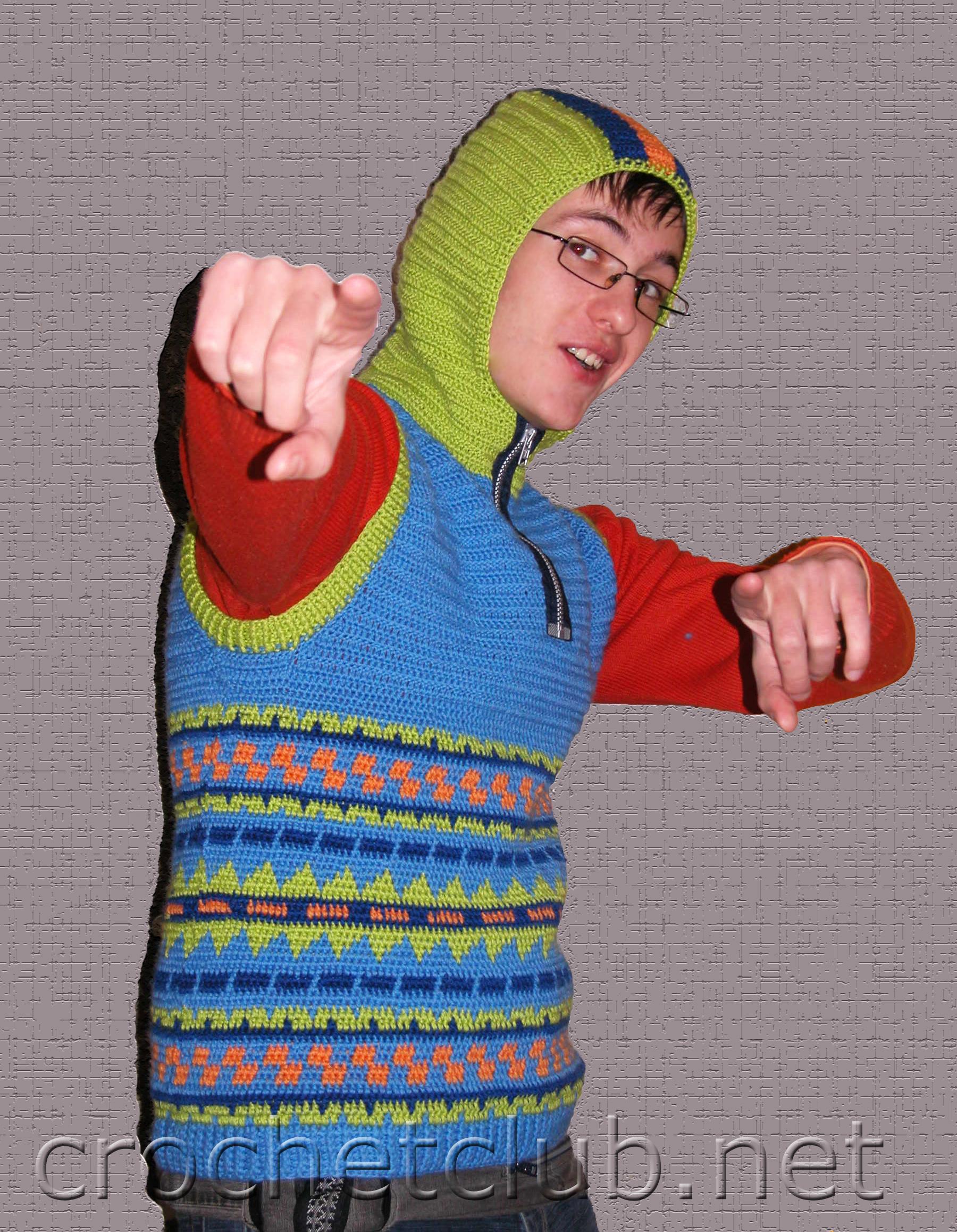 вязаный жилет с капюшоном вязание крючком блог настика