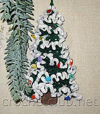 вязаная новогодняя елка