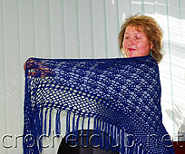 синяя шаль
