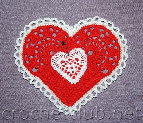 сердечки-валентинки вязала