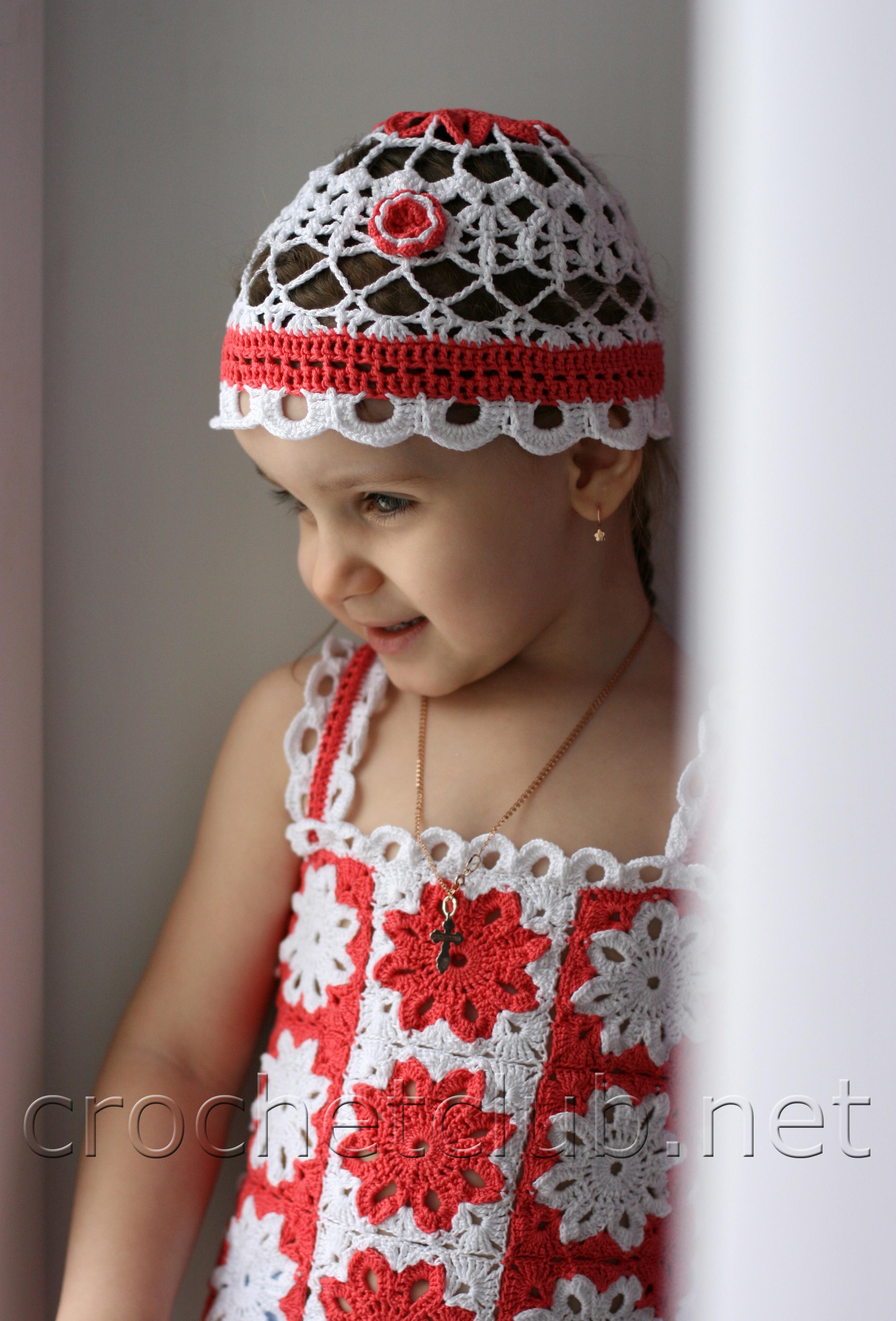 Вязание крючком шапочки для девочек на лето схемы.