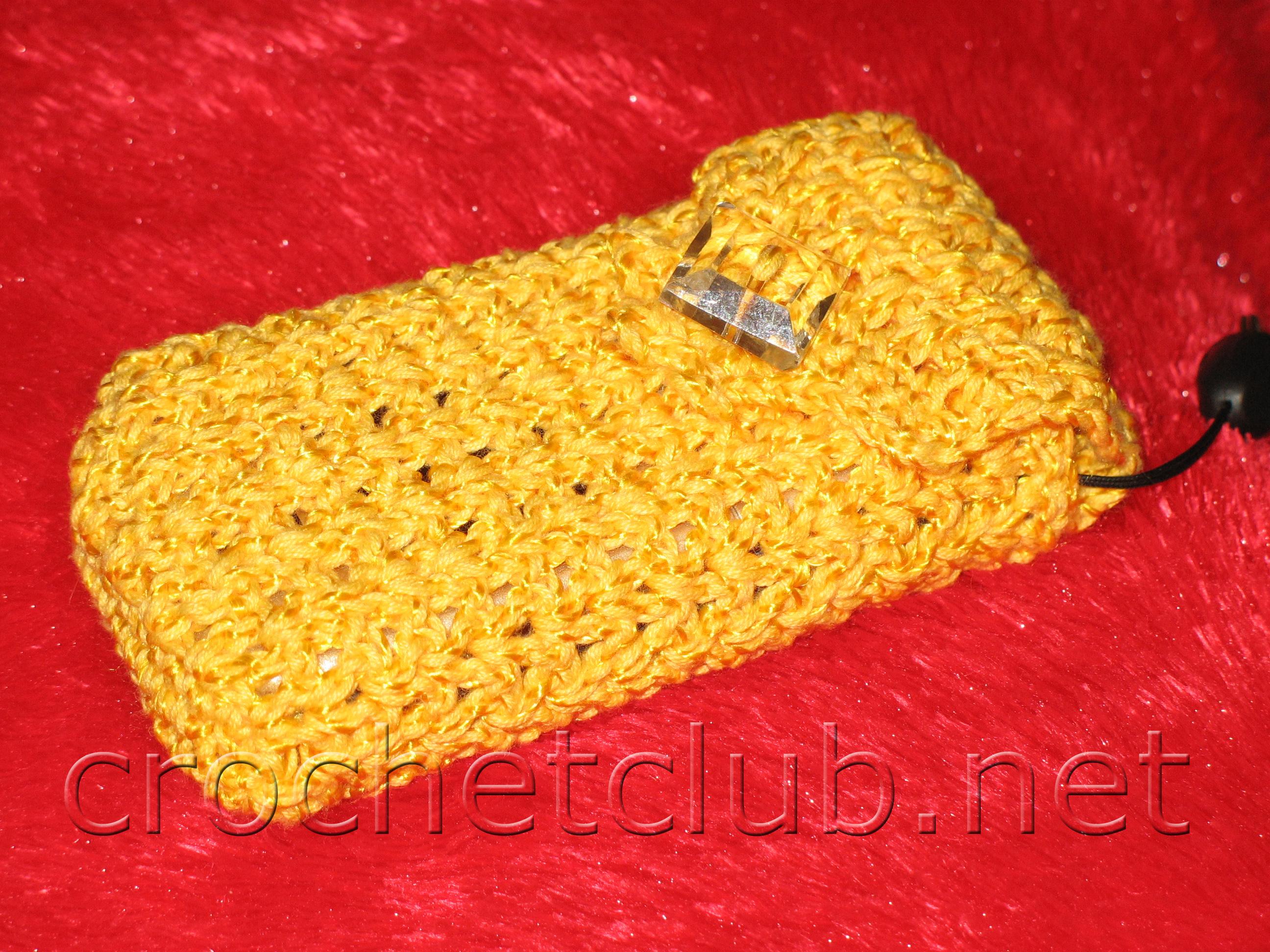 чехол для телефона крючком схемы вязания