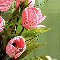 вязаные тюльпаны - фрагмент