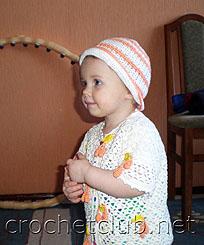 шапочка и кофточка для девочки