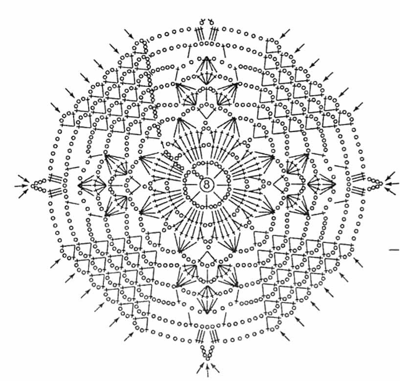 Как связать ажурный мотив круг вязание крючком для новичков со схемами 96