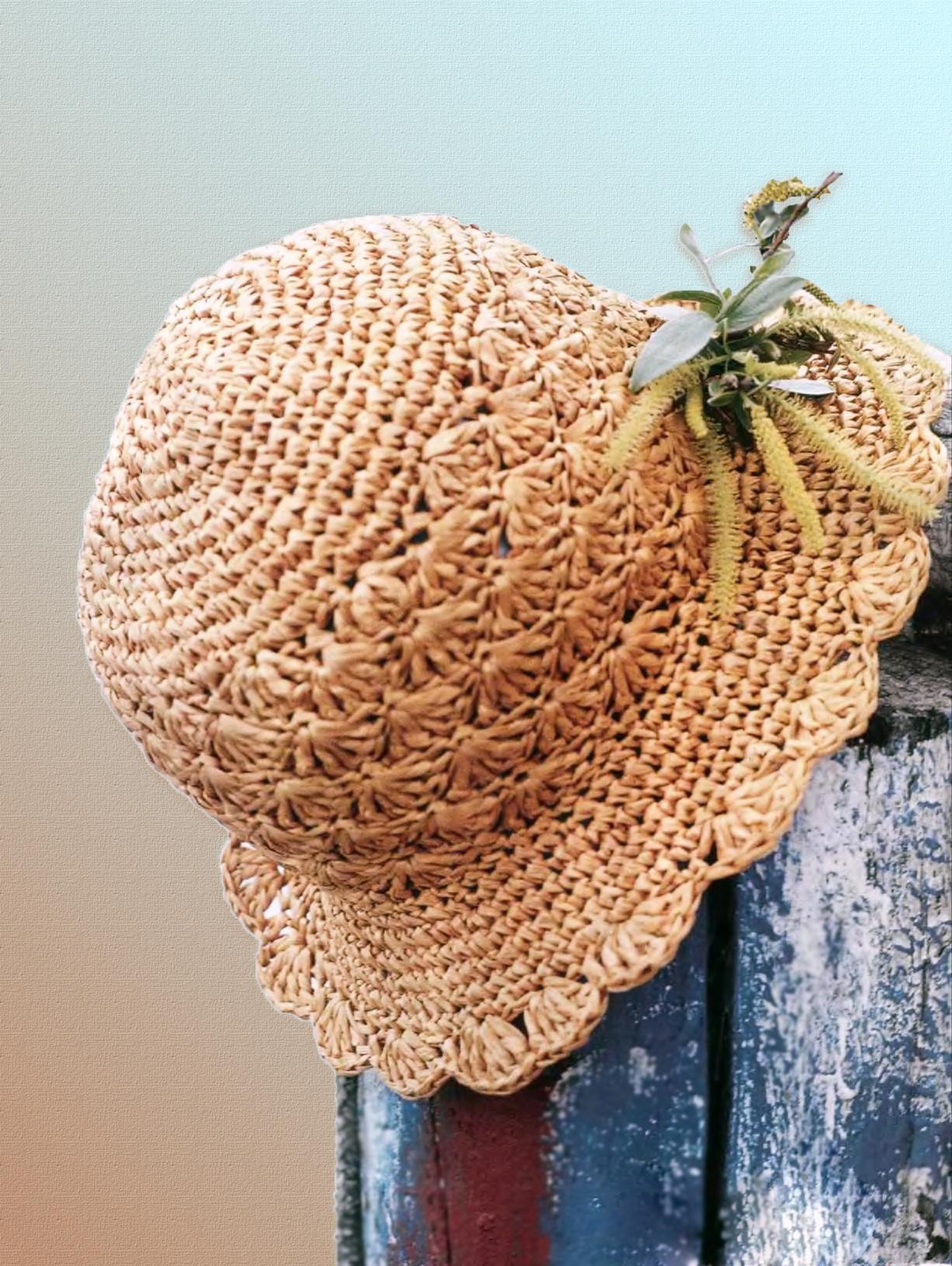 Элегантная вязаная шляпка - Вязание Крючком. Блог Настика