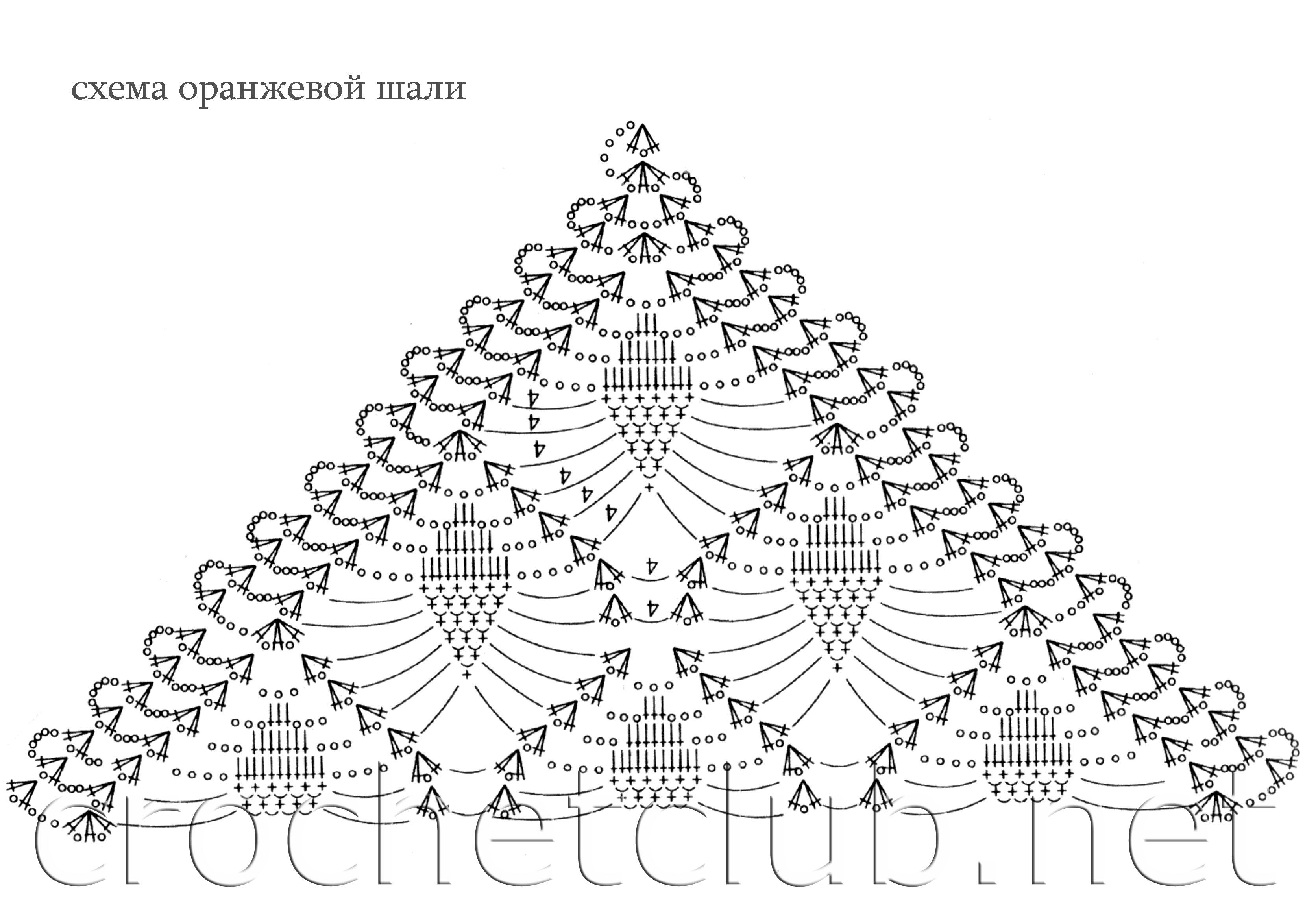 Вязание крючком шалей схемы 36