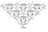 схема узора сиреневой шали с кистями