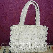 сумочка из цветочных элементов