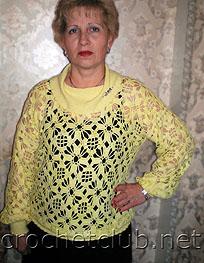 светло-желтый пуловер