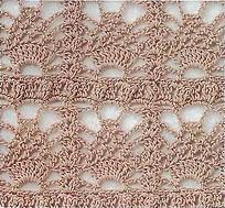 узор №8 для ажурной шали
