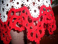 фрагмент юбки-тамбурное кружево