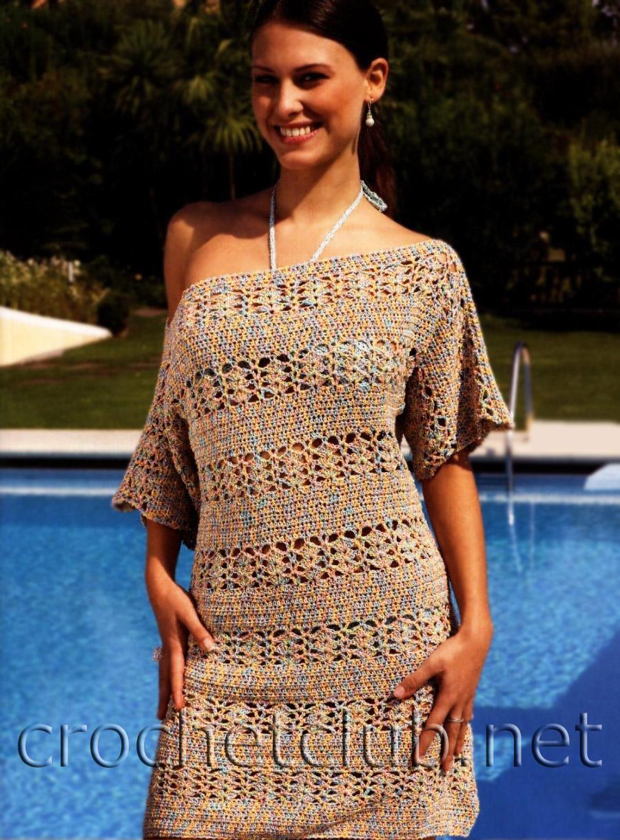 """1219 pxРазмер.  Вязанное крючком платье  """" платья 2011.  Mejind."""