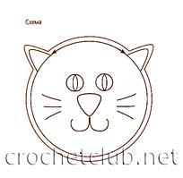схема мордочки кота