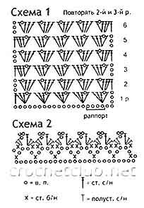 схемы вязаного топа для девочки