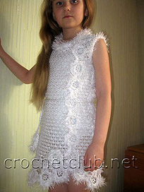 вязаный наряд для девочки