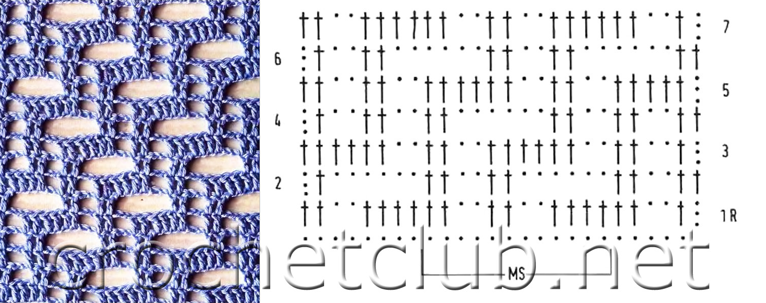 Узоры для вязания крючком » Более 2000 схем с описанием
