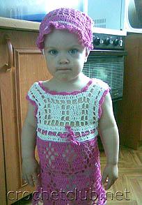 платье и косынка для маленькой девочки