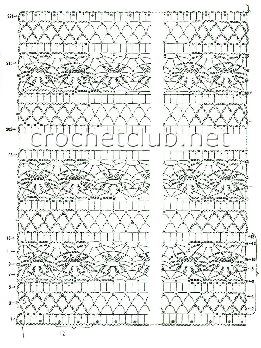 паутинки схемы вязания