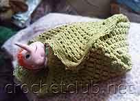 вязаное покрывальце для ребенка