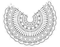 схема узора топа с завязками на шее