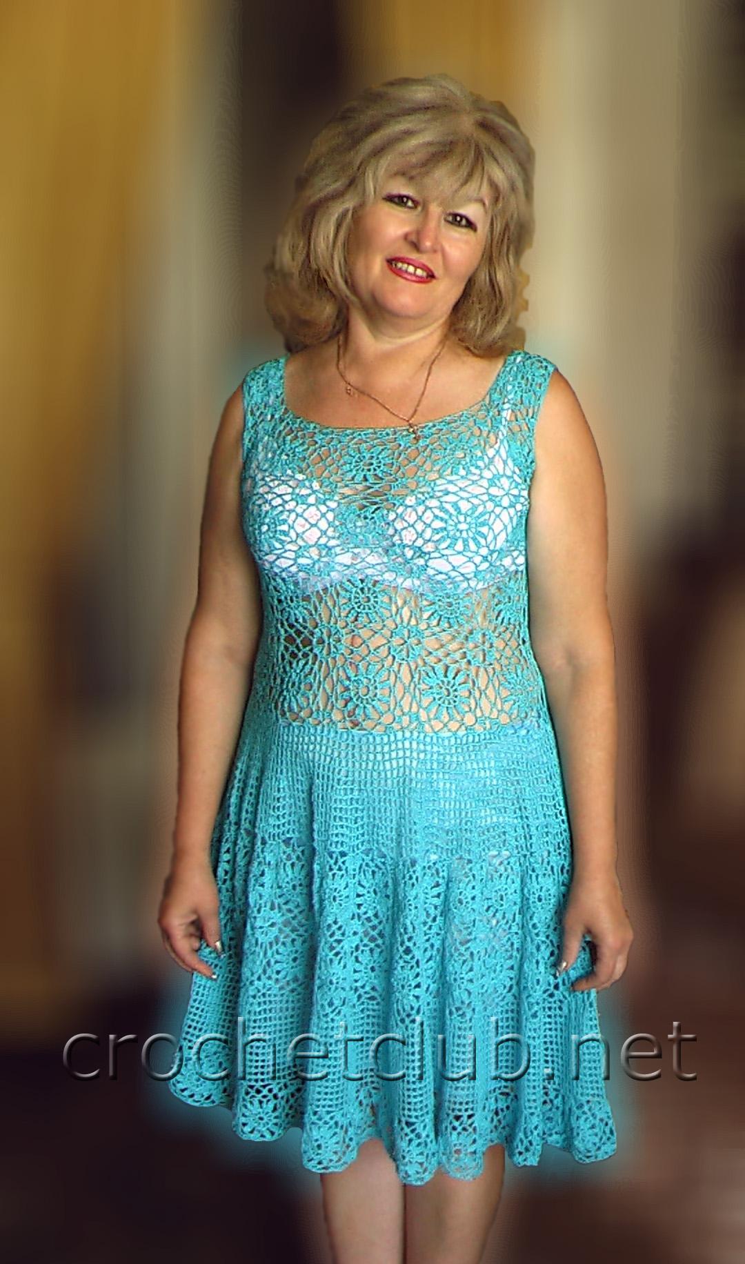 Вяжем крючком платья легко