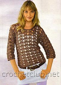 пуловер шоколадного цвета