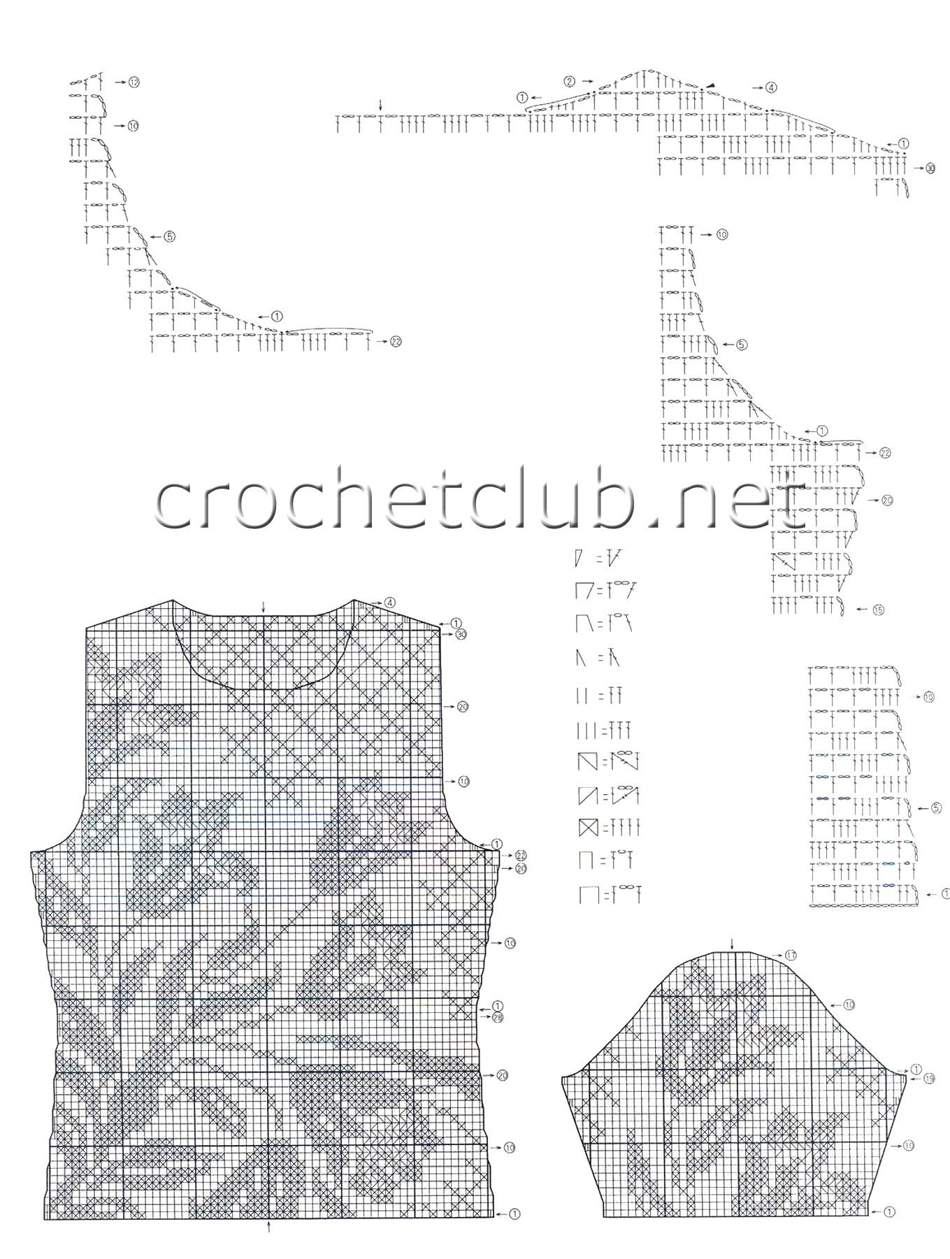 схема для филейного вязания сумки