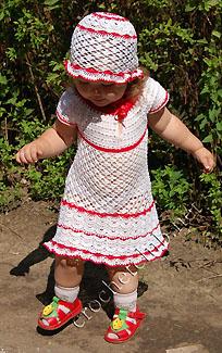платье и панамка белоснежка