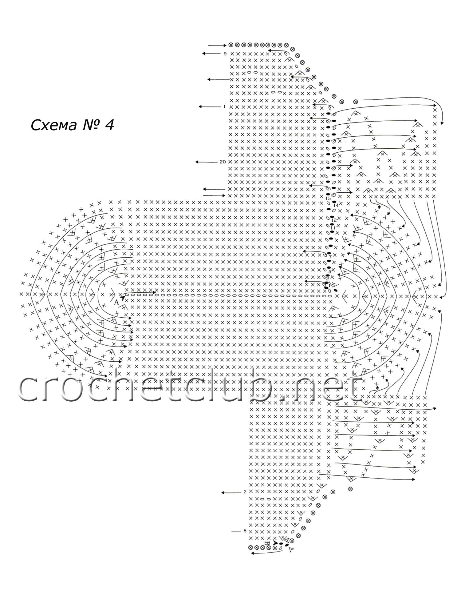 вязание тапочек из 8 квадратов крючком подробная схема