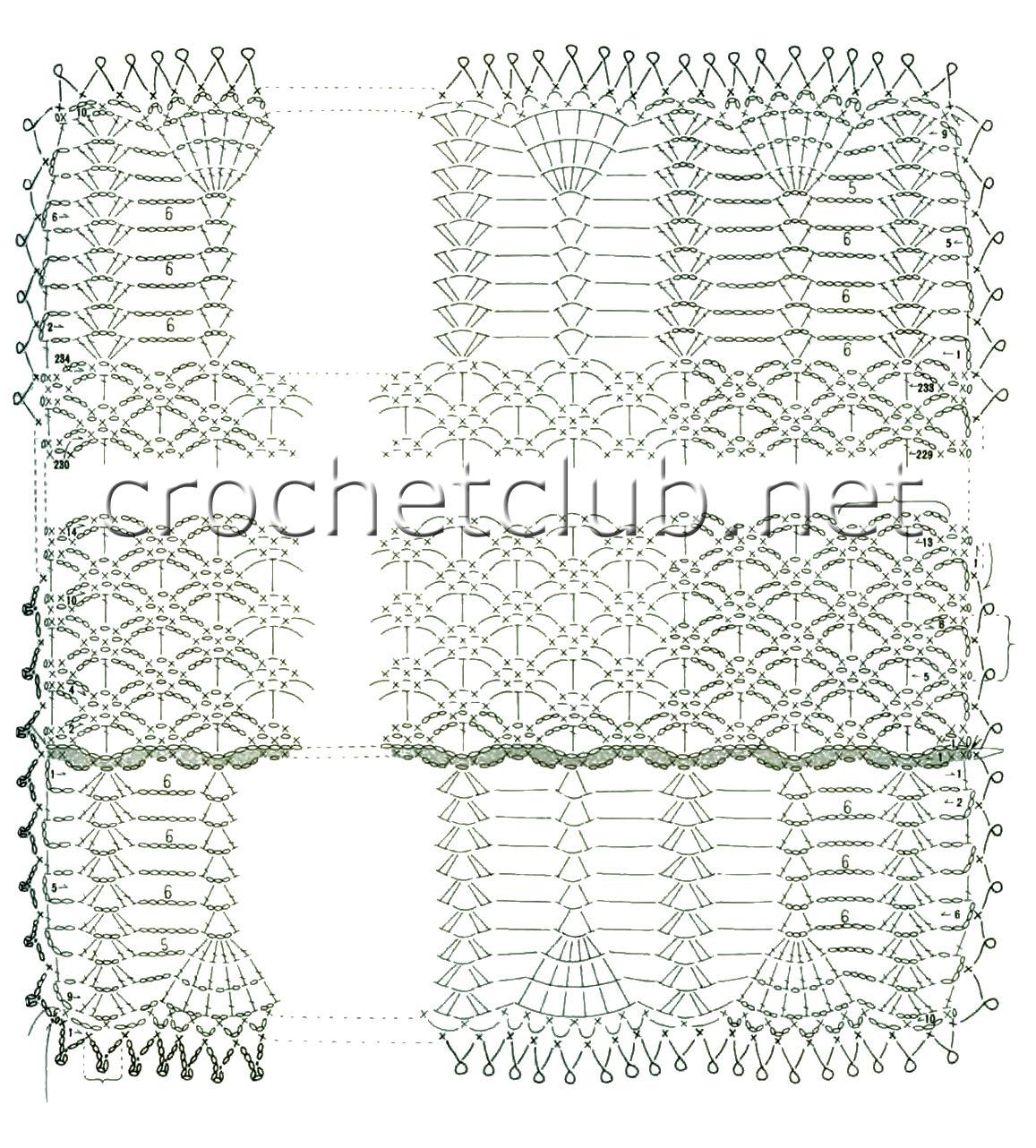 Вязание крючком схемы палантины японские 656