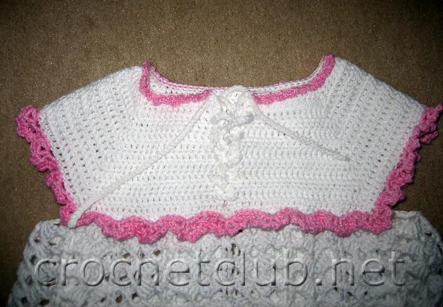 Нарядное платье для девочки вязать.