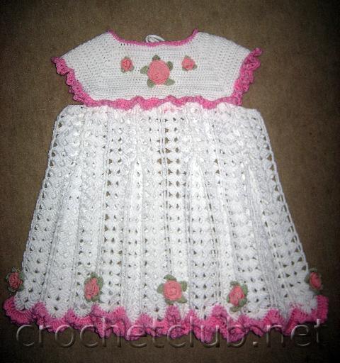 Схема вязание крючком платье для девочки 1-2 года крючком
