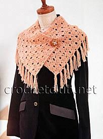 оригинальный шарф с бахромой