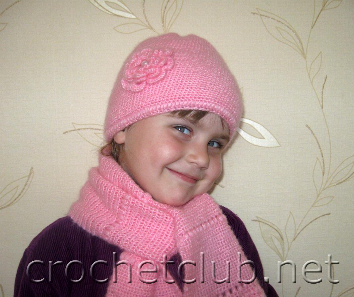 вязаные шарфики крючком для девочки 7 лет фото и схемы